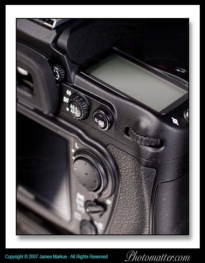 Picture of Nikon D300 Command Dial, AF Buttons, and Diopter Adjustment