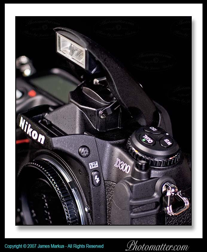 Image of Nikon D300 Flash extended up