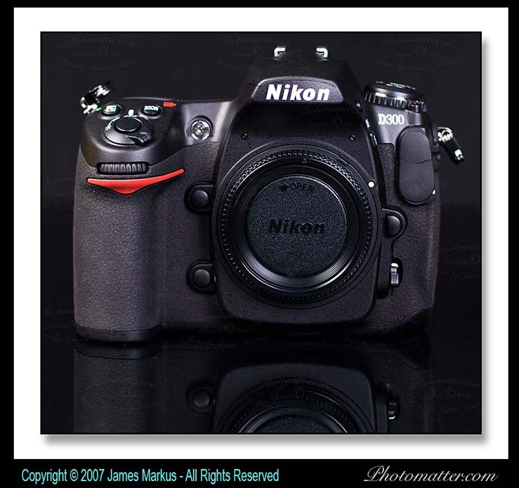image of Nikon D300 camera body from the front
