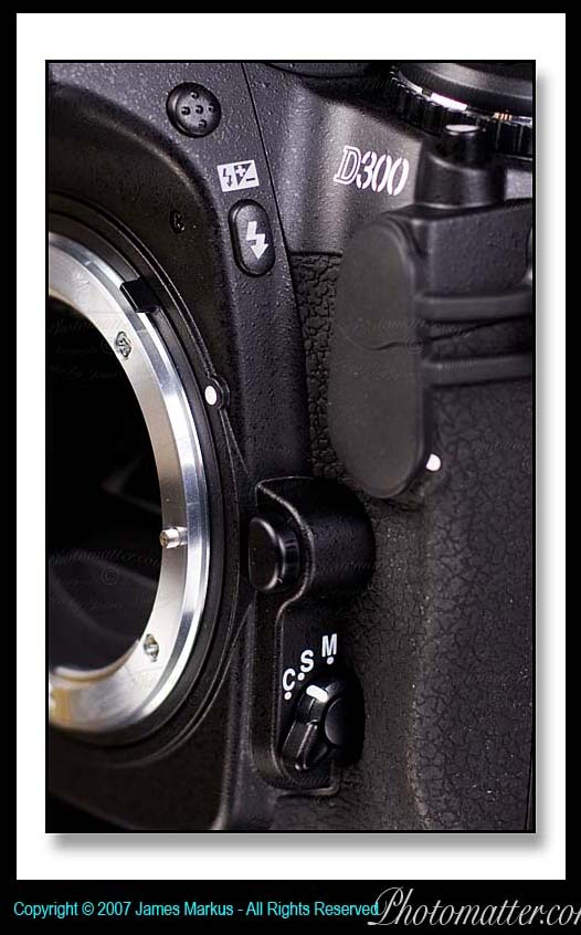 Image of Nikon D300 Shooting Mode and Flash Buttons